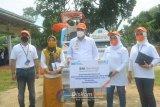 Bupati Lampung Tengah serahkan bantuan CSR dari BNI