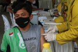 Pengemudi ojek daring Lampung bantu sukseskan vaksinasi lansia