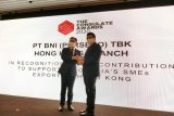 BNI memperoleh Consulate Award 2020 dari KJRI Hong Kong
