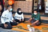 Polres Bantul menggelar rekonstruksi kasus satai beracun tewaskan bocah