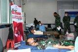 Lantamal VIII gelar donor darah peringati  HUT Ke-74 Jalasenastri