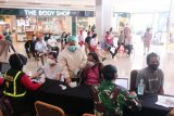 Polda Lampung pantau kegiatan vaksinasi COVID-19 warga Bandarlampung