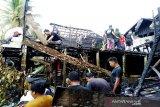 Empat rumah warga  Lemo I  terbakar
