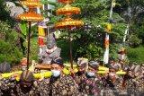 Umat Buddha Kaloran ritual peletakan patung Dewi Sri