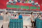 Meriahkan HUT kabupaten, Barito Utara  gelar vaksinasi massal