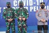 Panglima TNI bersama Kapolri pantau Serbuan Vaksinasi di Pelindo II