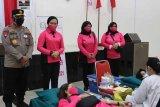 HUT Bhayangkara ke-75, Kapolda Kalteng pantau kegiatan donor darah