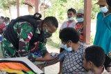 TNI beri layanan kesehatan gratis bagi warga perbatasan RI-PNG