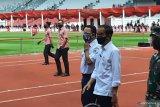 Presiden Jokowi tinjau vaksinasi COVID-19 di GBK