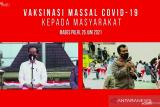 Presiden Jokowi minta target vaksinasi di daerah naik dua kali lipat