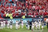 Denmark ke perempatfinal Euro usai gilas Wales 4-0