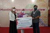Telkom Lampung salurkan bantuan pinjamaan kemitraan kepada 21 UMKM binaan