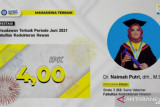 Ini anak Padang peraih wisudawan S3 terbaik Fakultas Kedokteran Hewan UNAIR, IPKnya 4,0