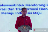 Presiden Jokowi : Indonesia urutan 11 vaksinasi COVID-19 dari 215 negara