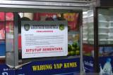 Tim patroli Prokes segel warung makan di Kota Medan