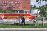 Karyawan Pertamina Ranai pasang spanduk tolak holding