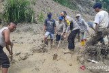 Jalan trans Provinsi Palu-Kulawi tidak dapat dilalui akibat longsor