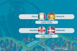 Jadwal semifinal Euro 2020: Italia ladeni Spanyol, Inggris ditantang Denmark