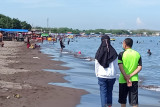 Pantai di Kawasan Tanjung Bunga Makassar tetap dipadati pengunjung