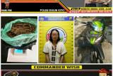 Bawa ganja 76 gram, seorang kurir asal Palembang dibekuk polisi