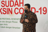 Menteri Erick Thohir apresiasi gerakan antar-rakyat gelar sentra vaksinasi