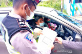 Pos penyekatan keluar-masuk Palangka Raya memberlakukan surat bebas COVID-19