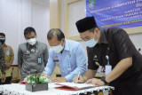 Kakanwil Kemenkumham Sulsel dan Bupati Pangkep teken MoU Produk Hukum Daerah