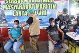 Warga antusias ikuti Serbuan Vaksinasi Lantamal VIII Manado