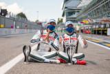 Pebalap Indonesia Sean Gelael naik podium di balapan ELMS Italia