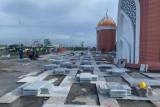 Pembangunan Masjid 99 Kubah di Makassar pada tahap III tidak capai target