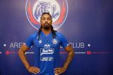 Arema FC perkenalkan Manuel Carlos Fortes sebagai striker baru Singo Edan