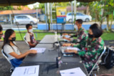 Pelaksanaan Serbuan Vaksinasi  Lanud Sam Ratulangi berjalan baik