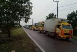 Ratusan truk angkutan barang menumpuk tiga hari di Pelabuhan Tanjung Api-api