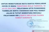 Nakes terpapar COVID-19, pelayanan  dan vaksinasi  Puskesmas Tambelan tutup sementara