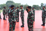 Panglima TNI menerima laporan kenaikan pangkat 44 perwira tinggi TNI