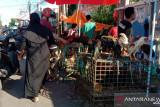 Pedagang musiman di Makassar gunakan bahu jalan sebagai tempat berjualan