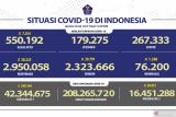 Kasus positif di Indonesia bertambah 38.325 orang
