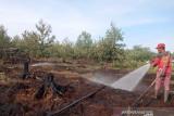 Tim RPK Arara Abadi-masyarakat padamkan karhutla di Meranti