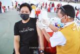 Mahasiswa dan alumnus Unhas antusias ikuti vaksinasi massal gelombang kedua