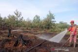 Kobaran api di hutan lindung Giam Siak Kecil  berhasil dipadamkan