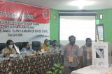 Ratusan anggota TNI-Polri amankan pleno rekapitulasi PSU Pilkada Boven Digoel