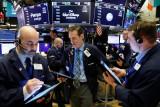 Wall Street Kamis pagi ditutup terdongkrak laporan laba dan optimisme pemulihan ekonomi