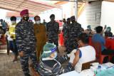 TNI AL lakukan Serbuan Vaksinasi di pesisir timur Sulawesi Utara