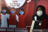 Vaksinasi peringatan Hari Anak Nasional di Makassar
