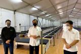 Presiden Jokowi tinjau fasilitas kesehatan Rumah Oksigen Gotong Royong