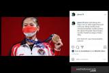 Jokowi ucapkan selamat buat lifter Windy Cantika peraih medali pertama di Olimpiade Tokyo