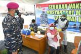 Lantamal VIII Maando terus lakukan Serbuan Vaksinasi bagi masyarakat pesisir