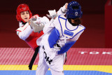 Olimpiade Tokyo - Pengungsi Iran Kimia Alizadeh kalahkan mantan rekan senegara