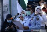 Kadivpas Kanwil Kemenkumham Sulsel pimpin upacara pelepasan jenazah Sulthani Kosil