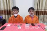 Dua pria di Inhil diciduk polisi, belasan paket sabu jadi bukti